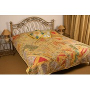 Classic Style Patch Work Bed Cover