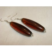 Synthetic Amber Earings